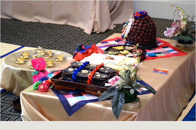 Wedding Reception With Pyebaek Event Of Korean Tradition In Palo Alto